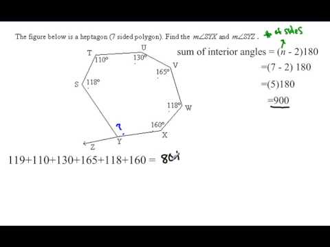 Polygon angle sum irregular polygon youtube - Sum of exterior angles of polygon ...