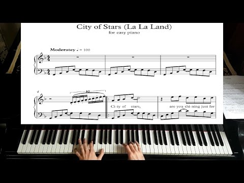 City of Stars - La La Land - Piano Tutorial plus Sheet