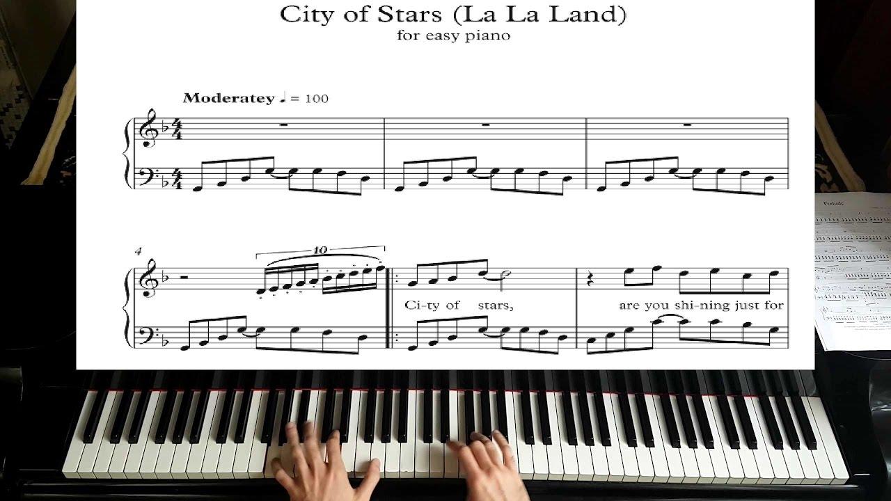 audition la la land piano sheet music pdf