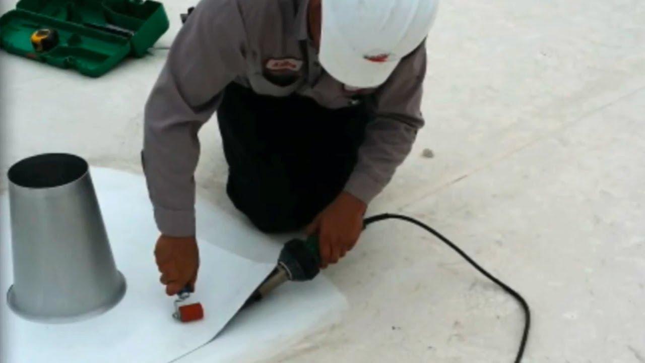 Atlas Apex Roofing Inc.   Cone Install On TPO