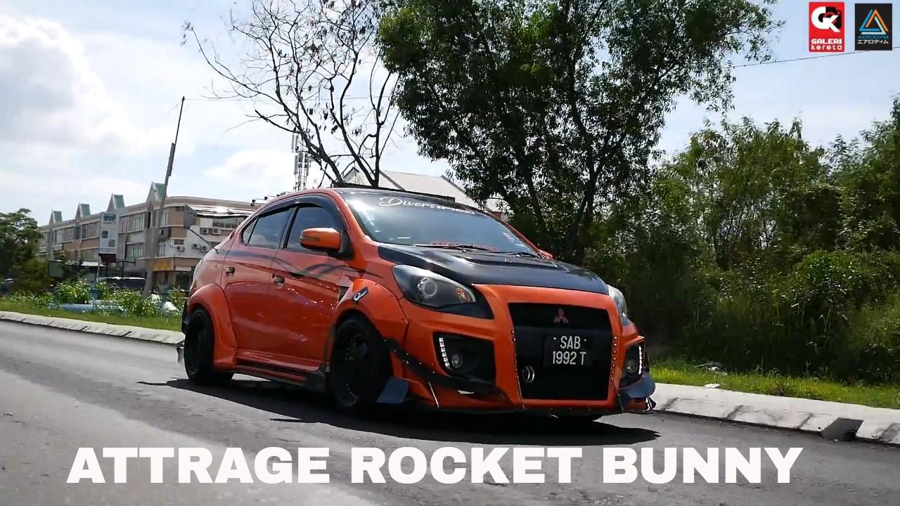 Rocket Bunny Mitsubishi Attrage Custom Design By N1 Body