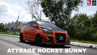 Rocket Bunny Mitsubishi Attrage Custom Design by N1 Body kits Center
