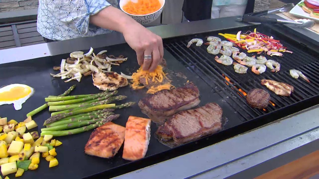 CooksEssentials 6-Piece BBQ Non-stick Grill Mat & Grid Set