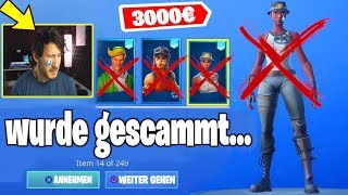 Due to this ERROR, OG SKINS and 3000€ were scammed in Fortnite...