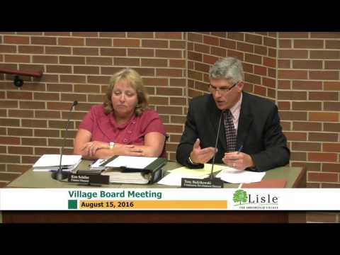 2016-08-15 Lisle Village Board Meeting