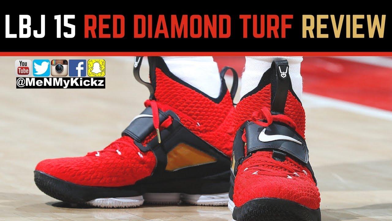lebron 15 diamond turf red