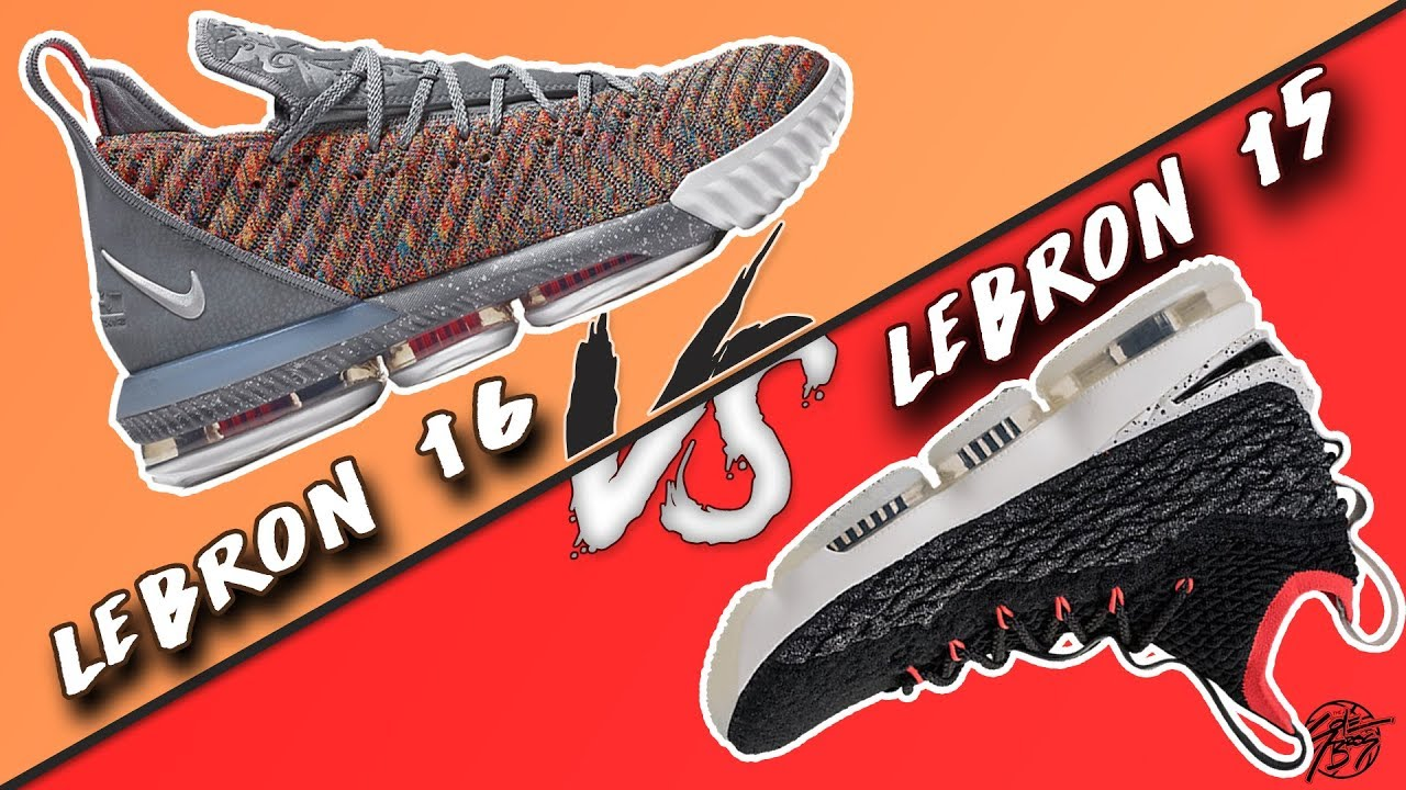 8884d4a3b6e Nike Lebron 16 vs Lebron 15! What's Better?! - YouTube
