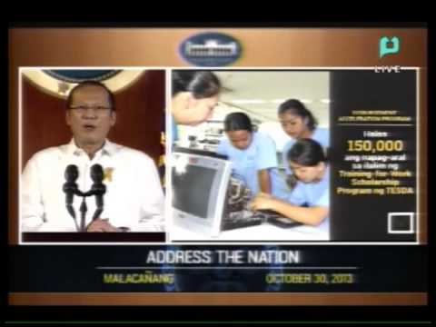 Speech of President Benigno S. Aquino III - ADDRESS THE NATION  - [October 30, 2013]