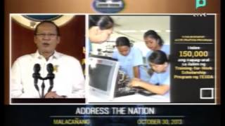 Speech of President Benigno S. Aquino III - ADDRESS THE NATION  - [October 30, 2013]