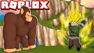 QUE SE PASSE-T-IL SI THE GIANT MONKEY DOES THE FUSION AT ROBLOX? (Dragon Ball)