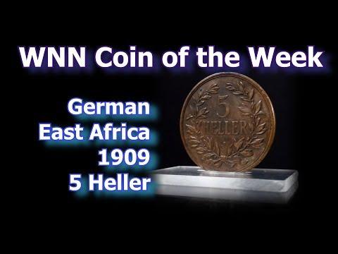 Coin of the Week: 1909 German East Africa 5 Heller