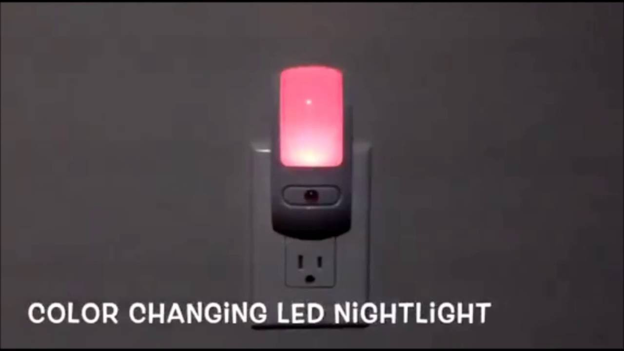 Color Changing Led Night Light Maxxima Mln 37c 02 Youtube