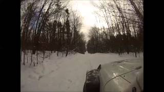 Driving Through The Finger Lakes National Forest In The Snow