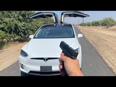 will a Tesla X windshield stop a bullet?
