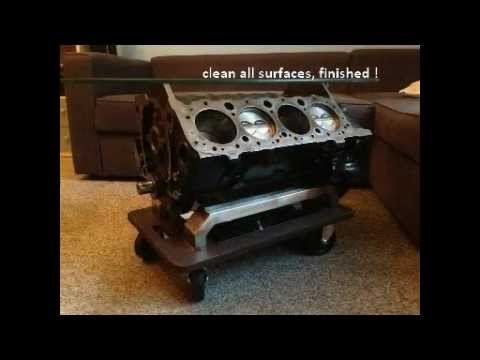 Building An V8 Engine Block Coffee Table With No Special Tools 305 Small Tisch Bauen You