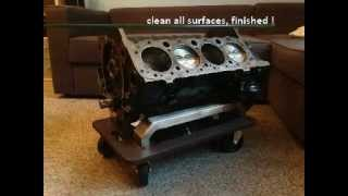 Building an V8 Engine Block Coffee Table with no special tools - 305 Small Block - V8 Tisch bauen