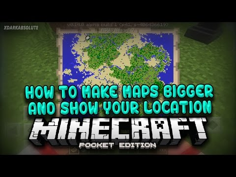 [MCPE] How To Make Maps Bigger and Show Yourself On Maps in Minecraft PE 0.14.0 (Pocket Edition)