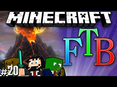 Minecraft Feed The Beast #20 - Hunting Basalt Volcanoes