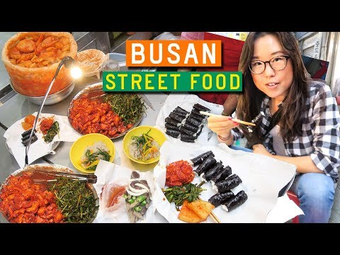 KOREAN STREET FOOD at Gukje Market in Busan