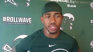Coach Willie Fritz, safety Roderic Teamer talk about Tulane's secondary
