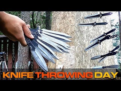 Knife Throwing Practice   Rzucanie Nożami Hobby Trening S01E09
