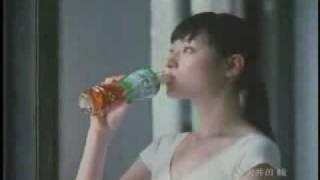 Chiaki in a beverage CM.