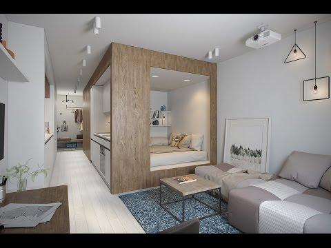 дизайн квартиры студии 20 квм фото с одним окном 3