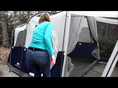 coleman tent with swinging hinged door $250 & coleman tent with swinging hinged door $250 - YouTube