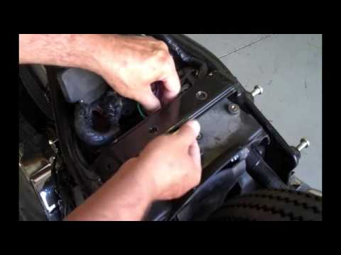 Kawasaki Vulcan 800 Relocate Wires Under Seat Bridge - YouTube