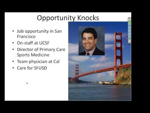 ACSM Career Webinar  - Primary Care Sports Medicine