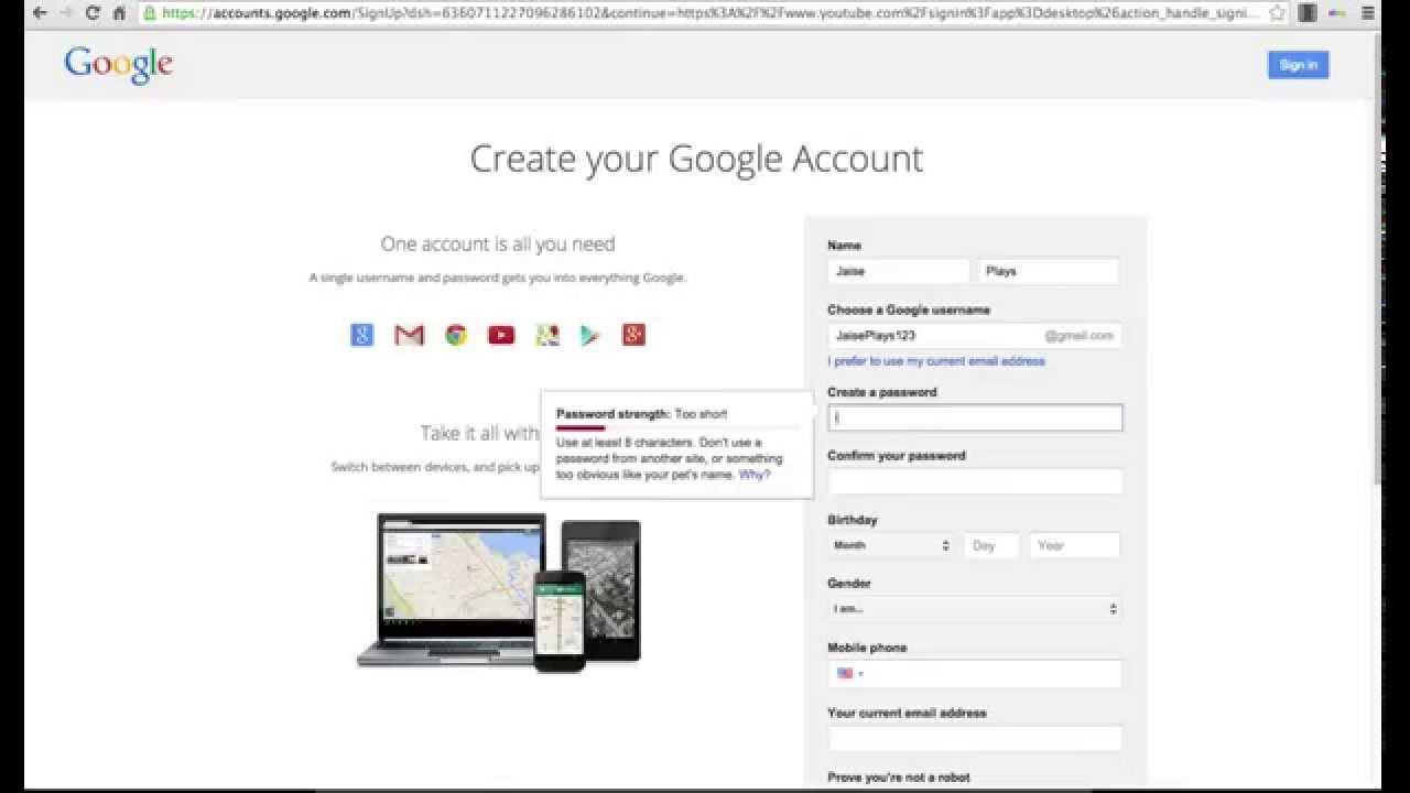 how to make a gmail account default chrome