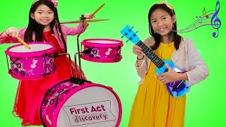 Wendy & Emma Pretend Play w/ Music Toys for Kids & Sing Nursery Rhyme Songs Compilation
