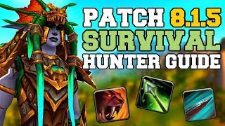 Survival Hunter DPS Guide 8.1.5 | Talents, Azerite, Rotation & Stats | World of Warcraft | WoW BfA