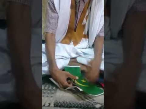 Ce jeune mauritanien s'exprime autrement pour dire non au nouveau drapeau d'Aziz