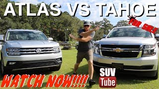NEW 2018 VW ATLAS vs New CHEVY TAHOE | Review Vlog - Which SUV do You Like Best?