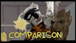 Guardians of the Galaxy!! - Paper Movies Side by Side Comparison