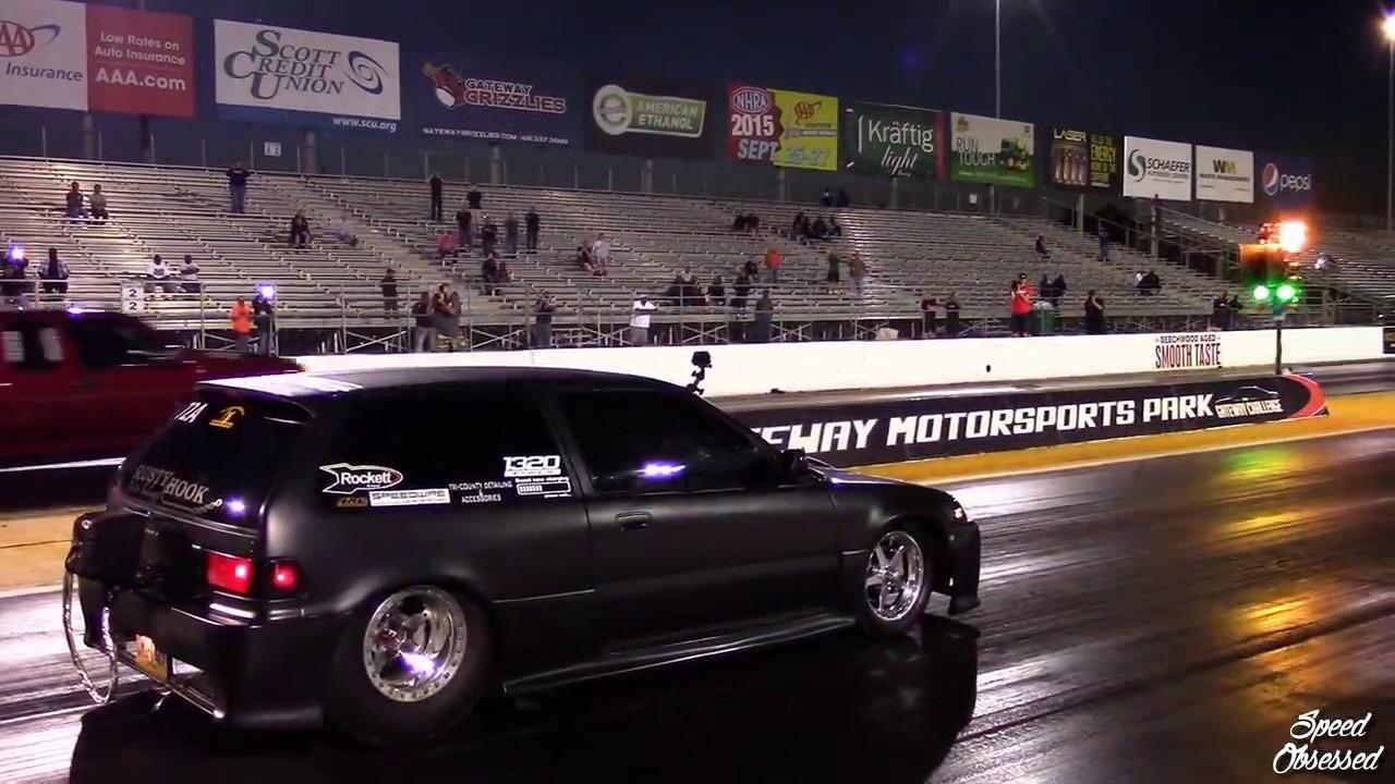 Rwd turbo v8 civic on drag week youtube for V8 honda civic
