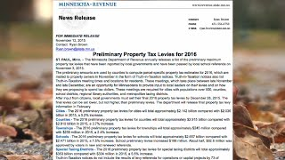 Effects of Minnesota's 2016 Preliminary Property Taxes