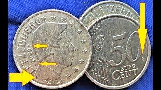 50 cents 2009 COIN 0,5 Euro Luxembourg Henri Nassau Signs 50 центов Люксембург ЗНАКИ НА МОНЕТЕ