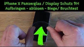 iPhone X Panzerglas Schutzfolie inkl. Positionierhilfe/ Rahmen von OMOTON - Test und Fazit - DEUTSCH
