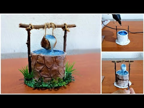 DIY Fairy Well with hot glue water