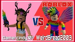 GAMERCINDY101 VS WEIRDBREAD2003 *WHO WILL WIN?! * (ROBLOX ASSASSIN INTENSE BETTING)