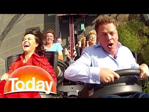 Aussie reporter screams like a child on roller coaster