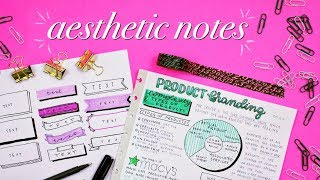 How to Take Pretty Tumblr Notes | Effective, Creative, and Aesthetic