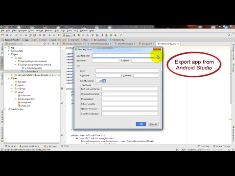 How to create Barcode Reader app in Android Studio 1.4