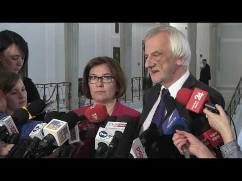 Beata Mazurek, Ryszard Terlecki - Konferencja prasowa PiS w Sejmie