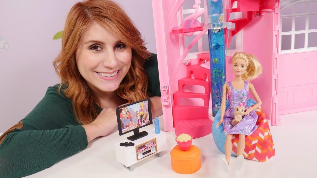 Spielspa mit barbie auf deutsch neues wohnzimmer video f r kinder youtube - Barbie wohnzimmer ...