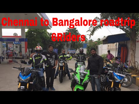 Chennai to Bangalore Road-trip on ZX10r | Z800 | MT09 | TNT600i | Part-1