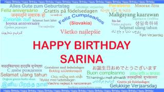 Sarina   Languages Idiomas - Happy Birthday