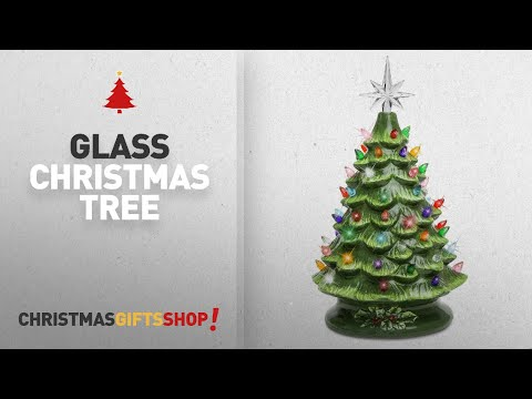 Most Popular Glass Christmas Tree: Best Choice Products Prelit Ceramic Tabletop Christmas Tree W/